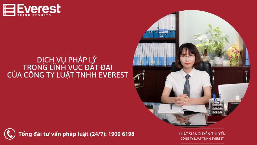 Dịch vụ pháp lý trong lĩnh vực Đất đai - Luật sư Nguyễn Thị Yến